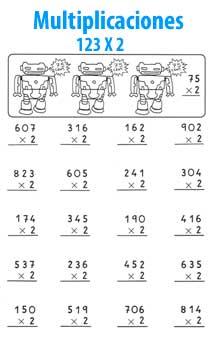 Multiplicaciones De Una Cifra Matematicas Para Peques